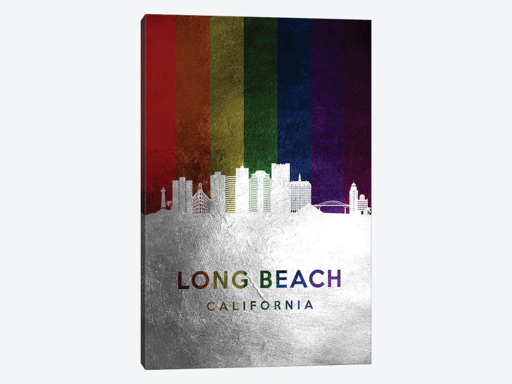 Long Beach California Spectrum Skyline by Adrian Baldovino 1-piece Canvas Artwork