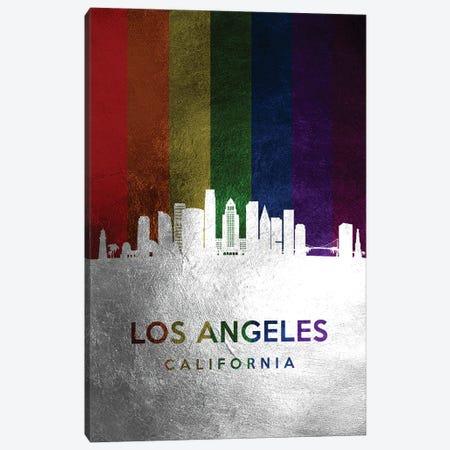 Los Angeles California Spectrum Skyline Canvas Print #ABV708} by Adrian Baldovino Canvas Artwork