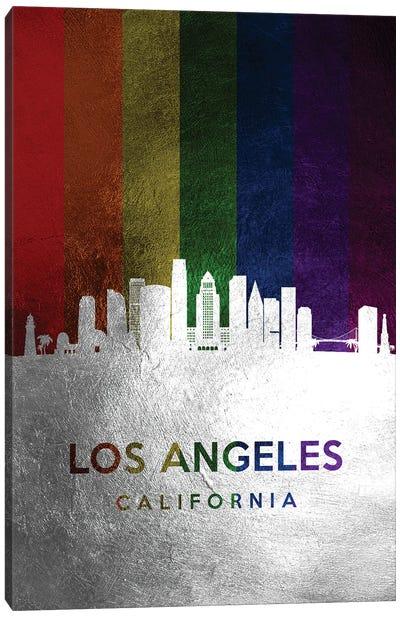 Los Angeles California Spectrum Skyline Canvas Art Print
