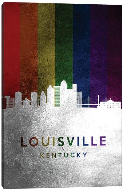 Louisville Kentucky Spectrum Skyline Canvas Art Print