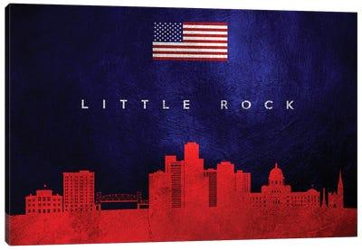 Little Rock Arkansas Skyline Canvas Art Print