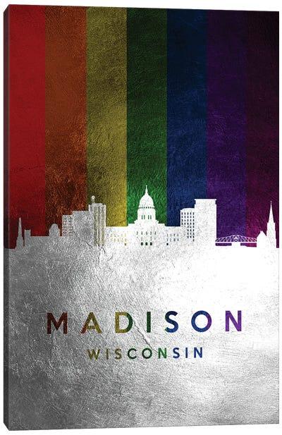 Madison Wisconsin Spectrum Skyline Canvas Art Print