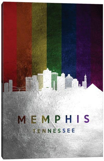 Memphis Tennessee Spectrum Skyline Canvas Art Print