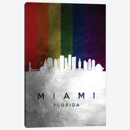 Miami Florida Spectrum Skyline Canvas Print #ABV714} by Adrian Baldovino Canvas Wall Art