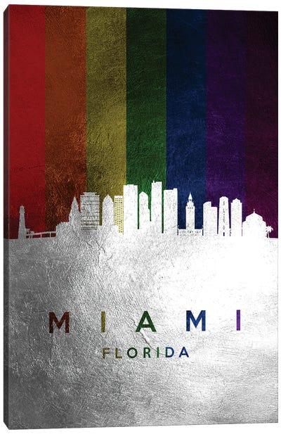 Miami Florida Spectrum Skyline Canvas Art Print
