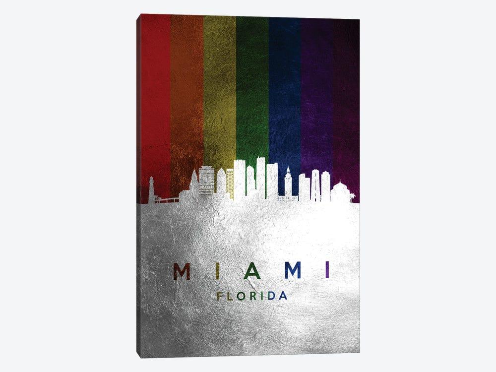Miami Florida Spectrum Skyline by Adrian Baldovino 1-piece Canvas Artwork