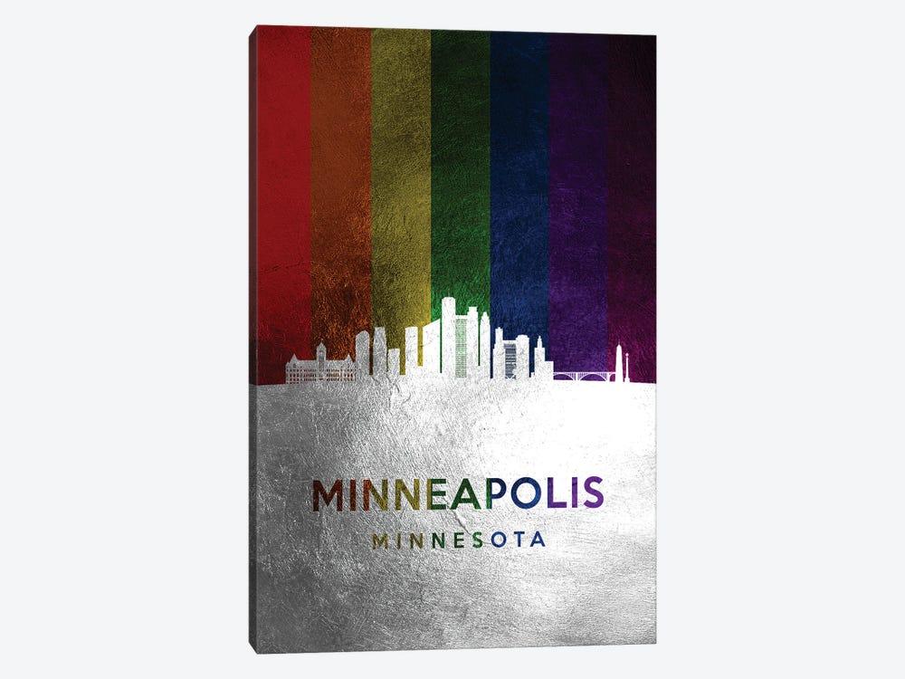 Minneapolis Minnesota Spectrum Skyline by Adrian Baldovino 1-piece Canvas Art Print