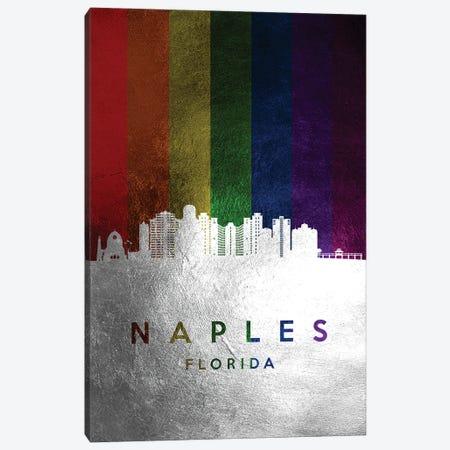 Naples Florida Spectrum Skyline Canvas Print #ABV718} by Adrian Baldovino Canvas Print
