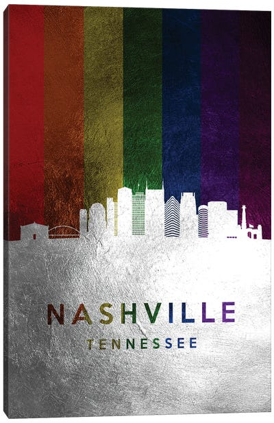 Nashville Tennessee Spectrum Skyline Canvas Art Print