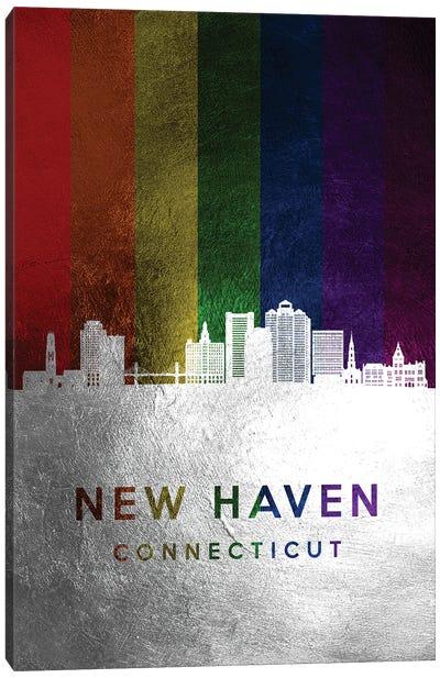 New Haven Connecticut Spectrum Skyline Canvas Art Print