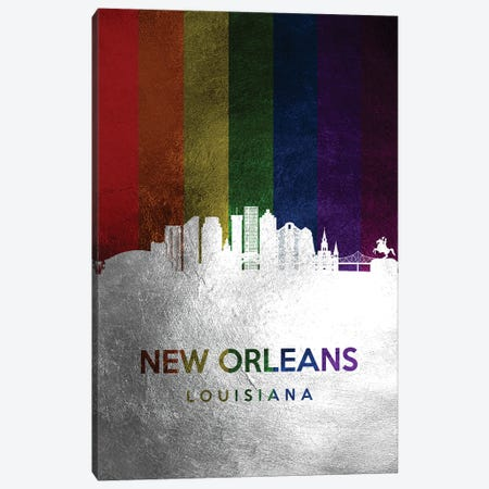 New Orleans Louisiana Spectrum Skyline Canvas Print #ABV721} by Adrian Baldovino Canvas Artwork