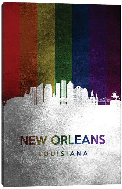 New Orleans Louisiana Spectrum Skyline Canvas Art Print