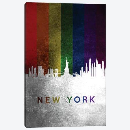 New York Spectrum Skyline Canvas Print #ABV722} by Adrian Baldovino Canvas Art