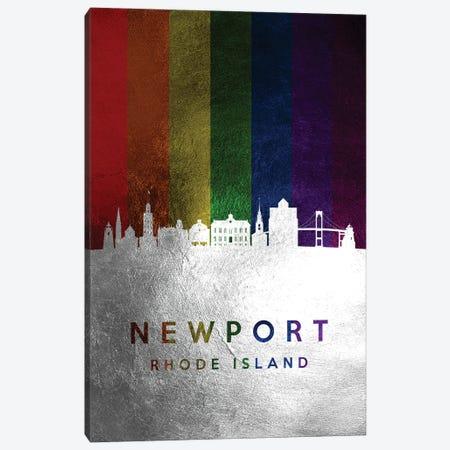 Newport Rhode Island Spectrum Skyline Canvas Print #ABV725} by Adrian Baldovino Art Print