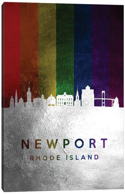Newport Rhode Island Spectrum Skyline Canvas Art Print