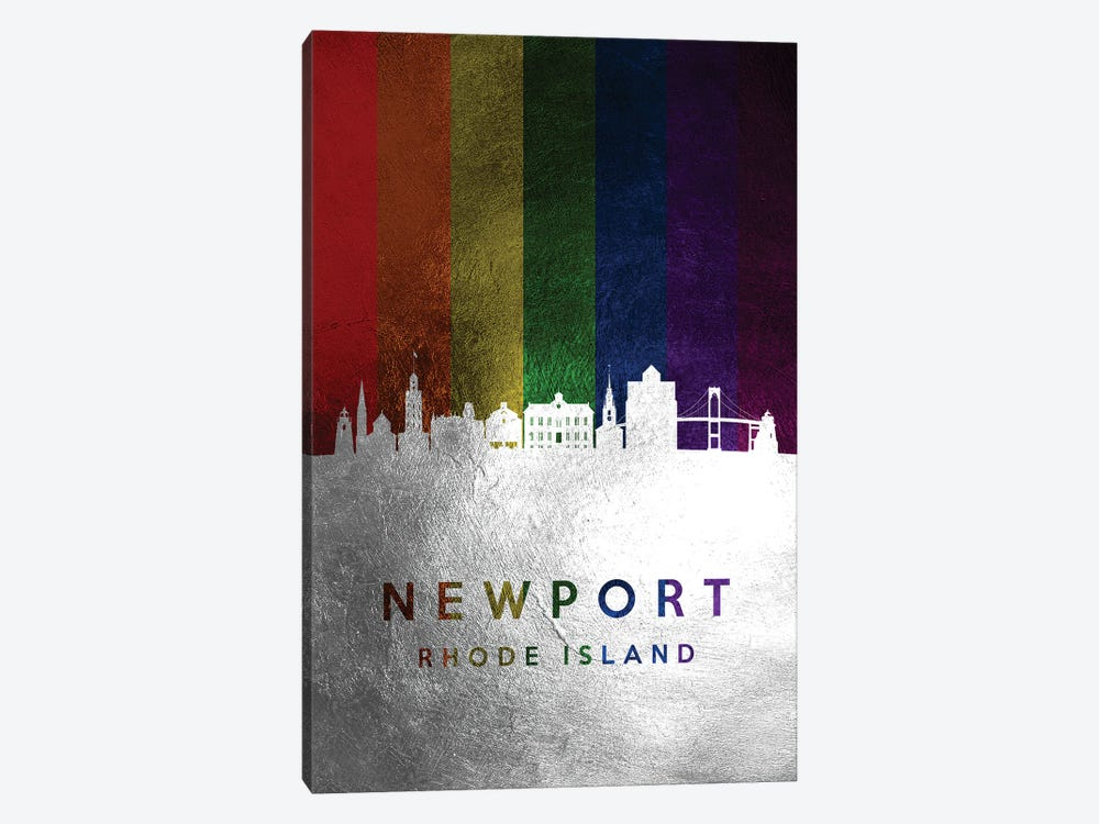 Newport Rhode Island Spectrum Skyline by Adrian Baldovino 1-piece Canvas Art