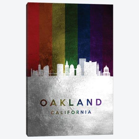 Oakland California Spectrum Skyline Canvas Print #ABV726} by Adrian Baldovino Art Print