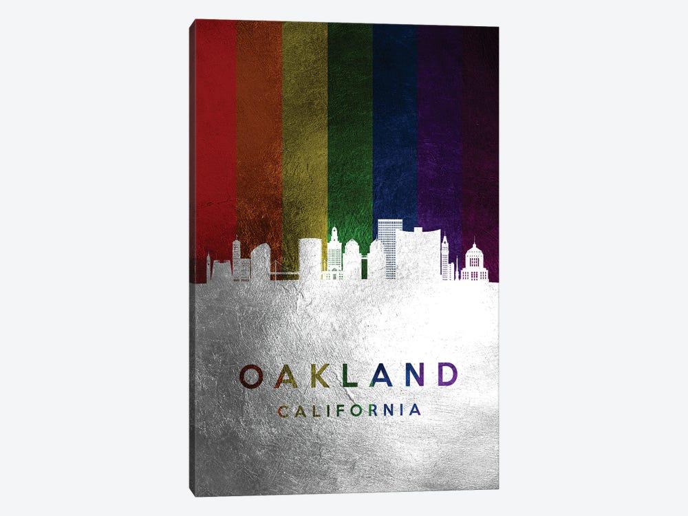 Oakland California Spectrum Skyline by Adrian Baldovino 1-piece Canvas Art Print