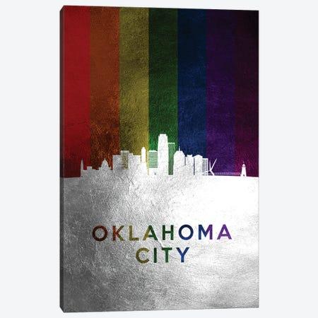 Oklahoma City Spectrum Skyline Canvas Print #ABV727} by Adrian Baldovino Canvas Art Print
