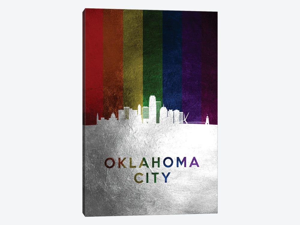 Oklahoma City Spectrum Skyline by Adrian Baldovino 1-piece Canvas Wall Art