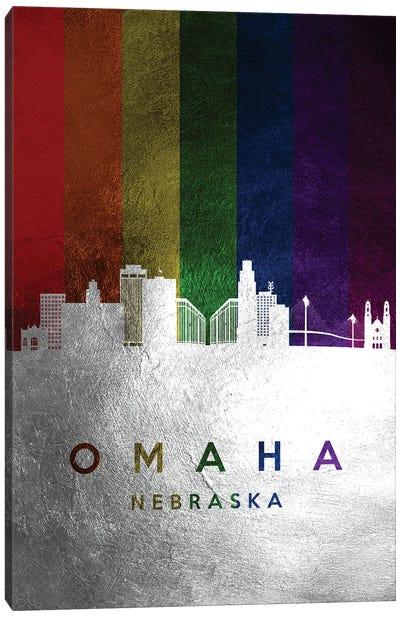 Omaha Nebraska Spectrum Skyline Canvas Art Print