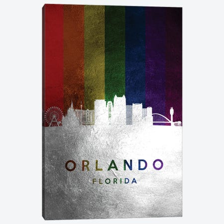Orlando Florida Spectrum Skyline 2 Canvas Print #ABV730} by Adrian Baldovino Canvas Art Print