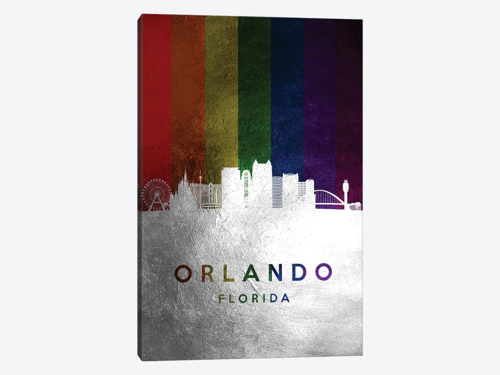 Orlando Florida Spectrum Skyline 2 by Adrian Baldovino 1-piece Canvas Art
