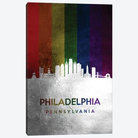 Philadelphia Pennsylvania Spectrum Skyline Canvas Print #ABV732} by Adrian Baldovino Canvas Print
