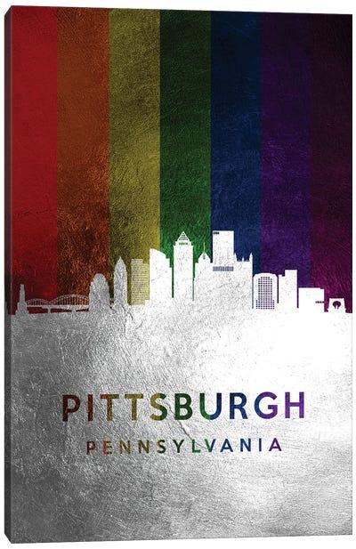 Pittsburgh Pennsylvania Spectrum Skyline Canvas Art Print