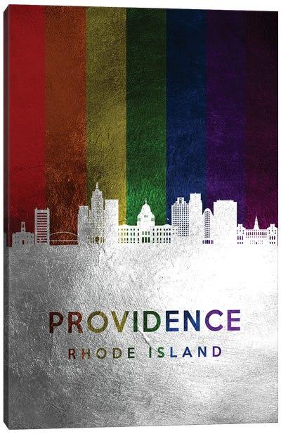 Providence Rhode Island Spectrum Skyline Canvas Art Print