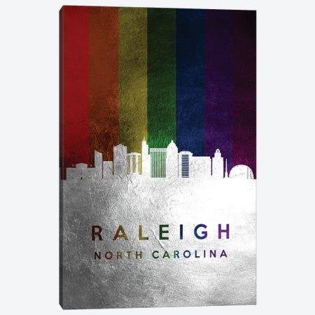 Raleigh North Carolina Spectrum Skyline Canvas Print #ABV737} by Adrian Baldovino Canvas Wall Art