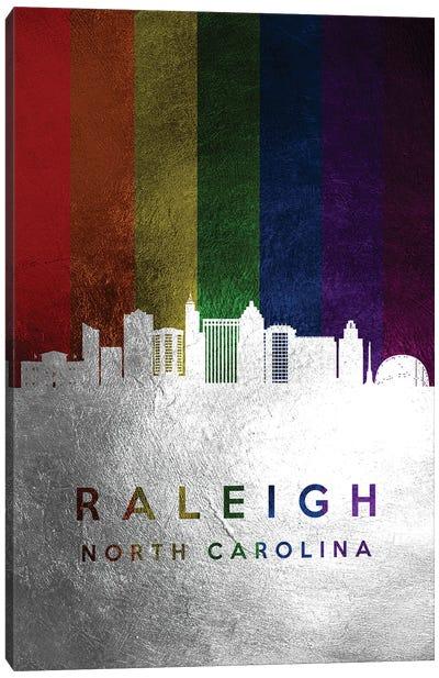 Raleigh North Carolina Spectrum Skyline Canvas Art Print