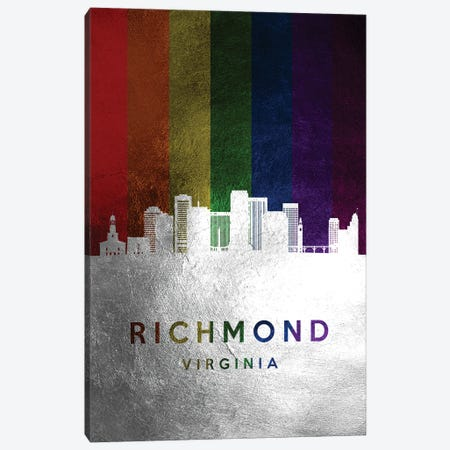 Richmond Virginia Spectrum Skyline Canvas Print #ABV740} by Adrian Baldovino Canvas Wall Art