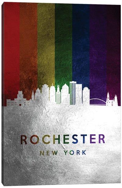 Rochester New York Spectrum Skyline Canvas Art Print