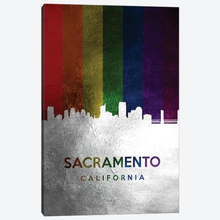 Sacramento California Spectrum Skyline Canvas Print #ABV742} by Adrian Baldovino Canvas Art