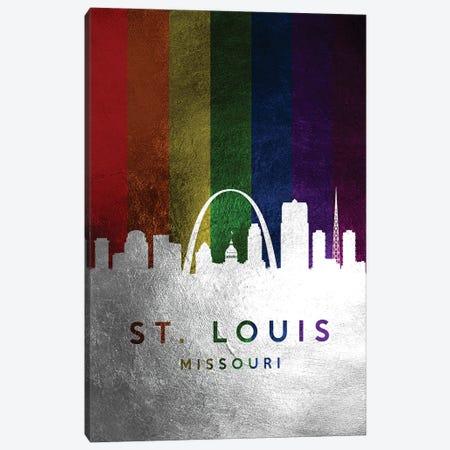 St. Louis Missouri Spectrum Skyline 2 Canvas Print #ABV745} by Adrian Baldovino Art Print