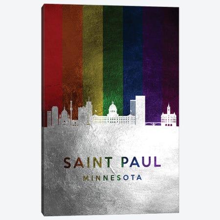 Saint Paul Minnesota Spectrum Skyline Canvas Print #ABV746} by Adrian Baldovino Canvas Art Print