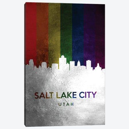 Salt Lake City Utah Spectrum Skyline Canvas Print #ABV747} by Adrian Baldovino Art Print