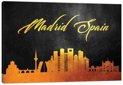 Madrid Spain Gold Skyline Canvas Art Print