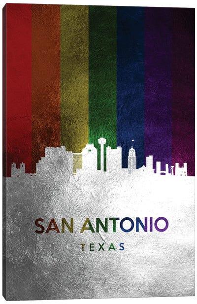 San Antonio Texas Spectrum Skyline Canvas Art Print