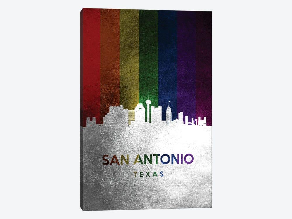 San Antonio Texas Spectrum Skyline by Adrian Baldovino 1-piece Canvas Art