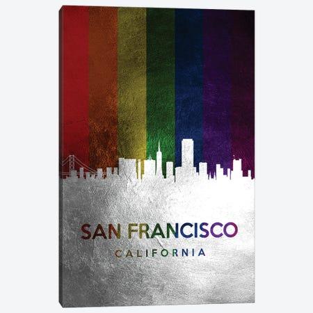 San Francisco California Spectrum Skyline Canvas Print #ABV753} by Adrian Baldovino Canvas Art Print