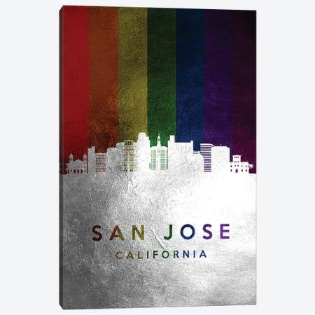 San Jose California Spectrum Skyline Canvas Print #ABV755} by Adrian Baldovino Canvas Wall Art