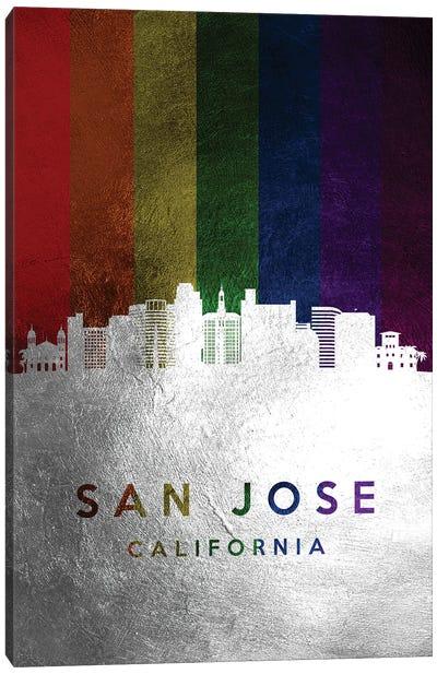 San Jose California Spectrum Skyline Canvas Art Print