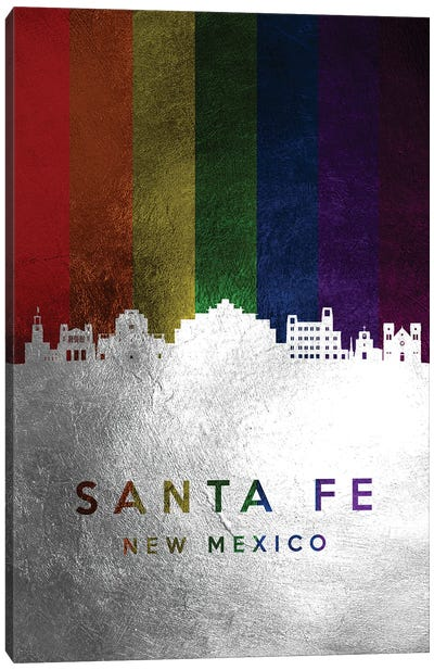Santa Fe New Mexico Spectrum Skyline Canvas Art Print