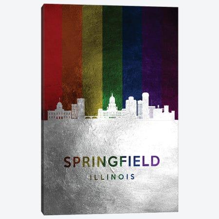 Springfield Illinois Spectrum Skyline Canvas Print #ABV759} by Adrian Baldovino Canvas Art Print