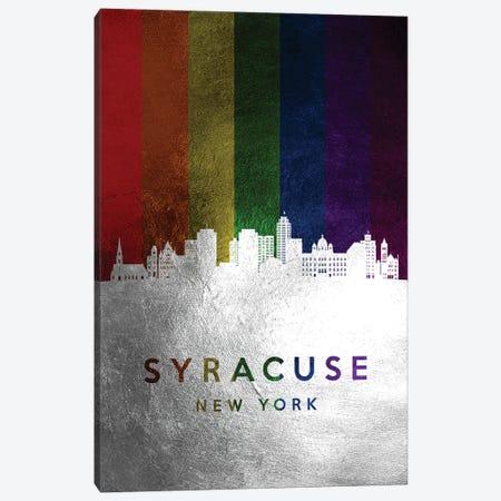 Syracuse New York Spectrum Skyline Canvas Print #ABV761} by Adrian Baldovino Canvas Artwork