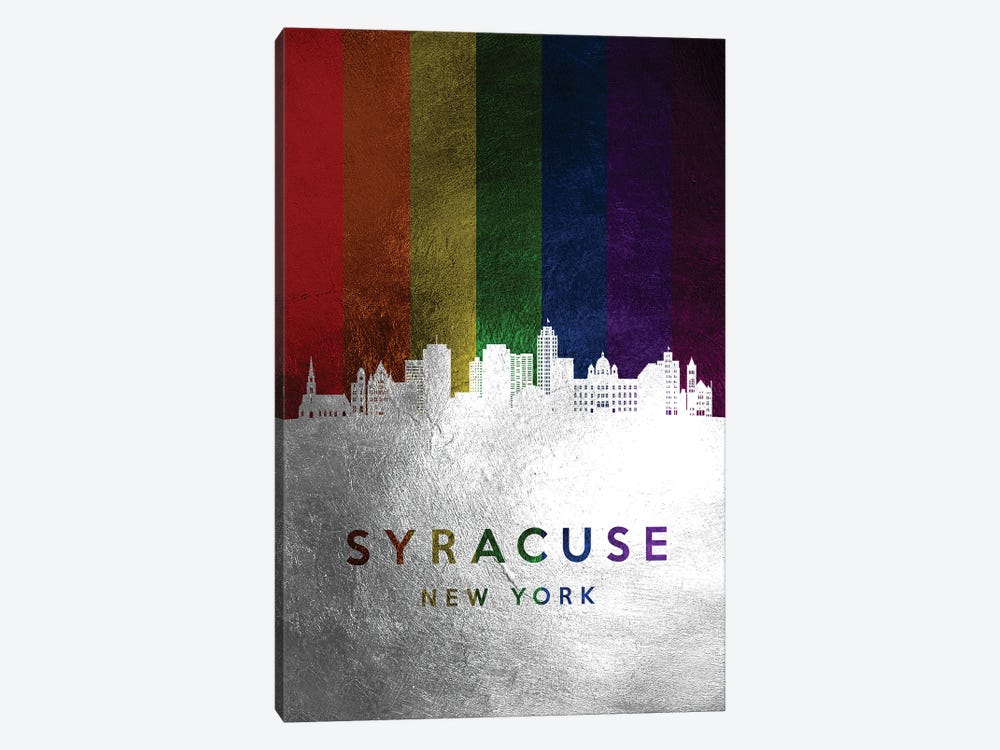 Syracuse New York Spectrum Skyline 1-piece Canvas Artwork