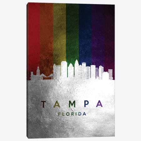 Tampa Florida Spectrum Skyline Canvas Print #ABV762} by Adrian Baldovino Canvas Art