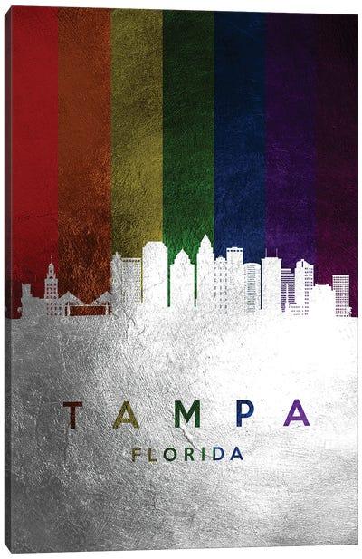 Tampa Florida Spectrum Skyline Canvas Art Print